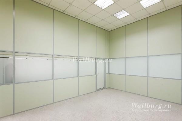 Комбинированные офисные перегородки вариант 11