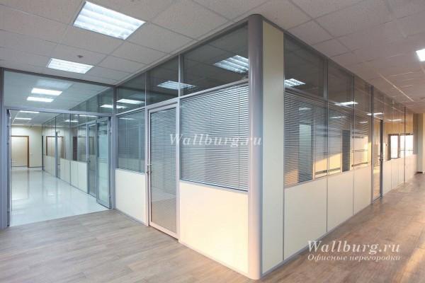 Комбинированные офисные перегородки вариант 17