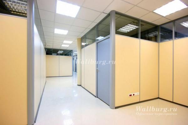 Комбинированные офисные перегородки вариант 8