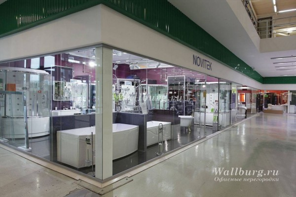 Перегородки для торговых центров вариант 11